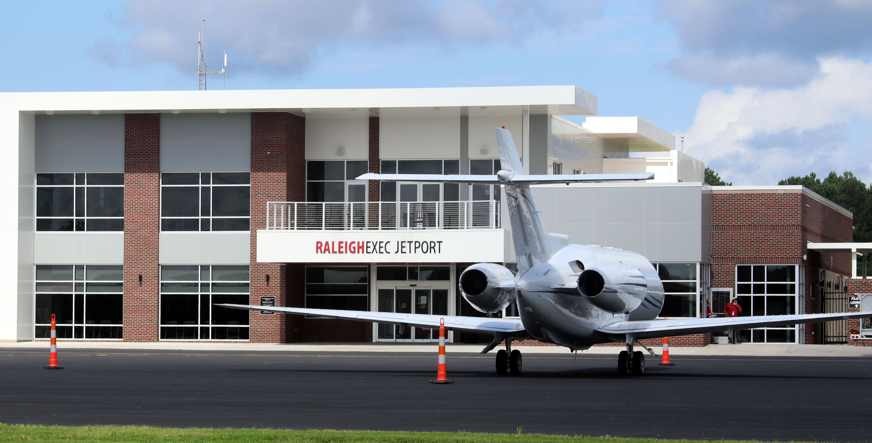 Jet and Terminal from Field Slider | Raleigh Executive Jetport